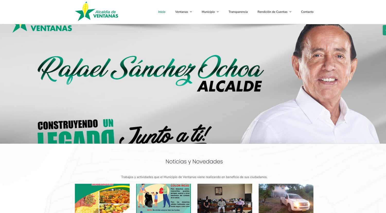 Municipio de Ventanas Sitio web y Hosting