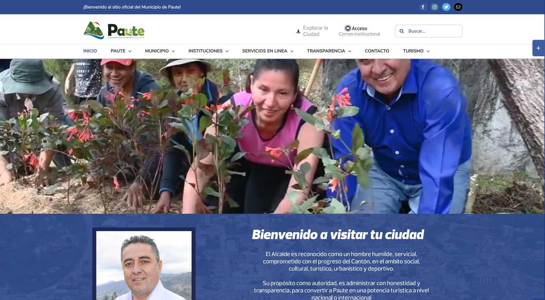 Gad Municipal de Paute sitio web y hosting correos electrónicos
