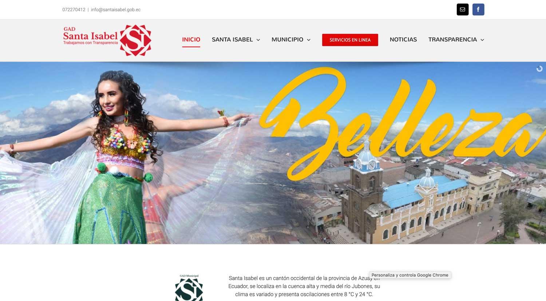 Municipio de Santa Isabel sitio web y hosting
