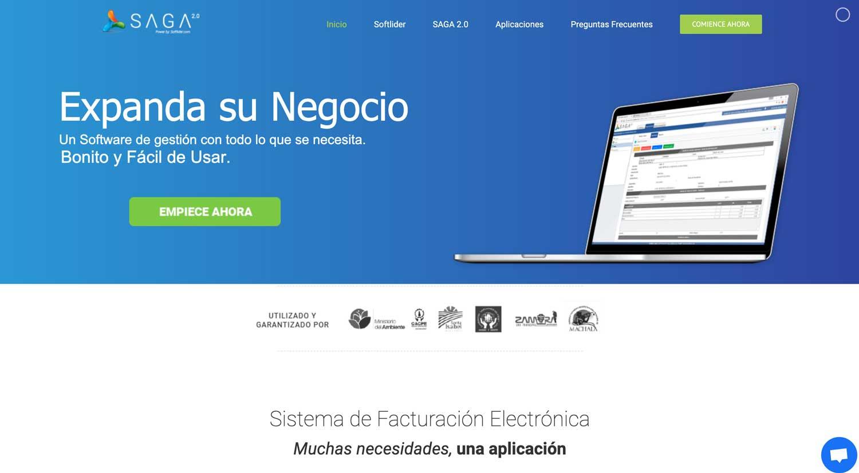 Saga Softlider empresa de facturación electr´ónica marketing Digital