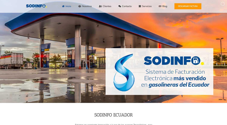 Sodinfo Ecuador diseño web Cuenca