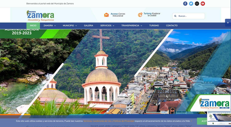 Municipio de Zamora Web Ecuador
